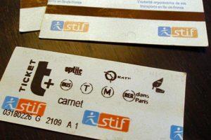 Единые билеты для общественного транспорта в Париже